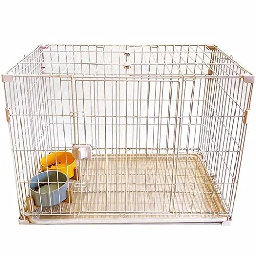 Jaula Pequeña Y Mediana Jaula Interior Extraíble para Gatos Y Jaula para Perros, Bichón Interior Pequeño Y Mediano, Jaula para Gatos Teddy Rabbit (Color : Blanco, Size : 82 * 52 * 61cm)