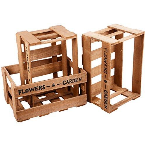 Nature by Kolibri - Juego de 3 cajas de madera para fruta