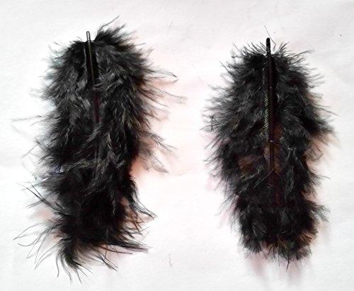 Lot de 5 Set New Nail Art Marabu plumes Noir Design 3D Nail Art Manucure Pédicure einleger Accessoires