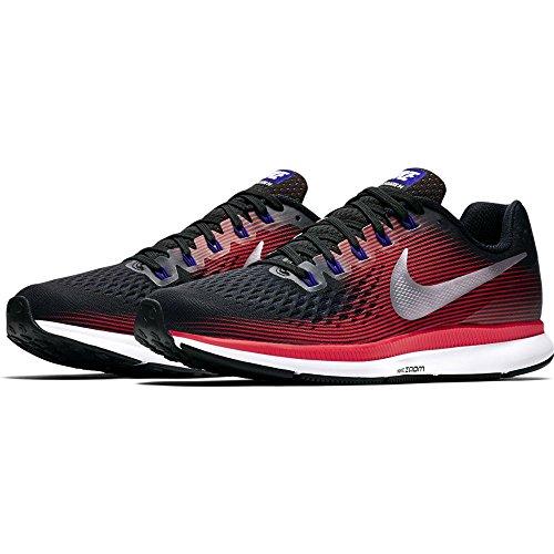 Nike Air Zoom Pegasus 34, Chaussures de Running Homme Noir (Black/Mtlc Silver/Brt Crimson/006) 49.5 EU