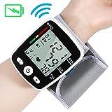 Tensiomètre électronique avec transmission vocale en anglais Moniteur de fréquence cardiaque au poignet avec capteur USB avec charge USB en 2 heures pendant un mois