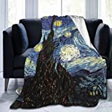 60'X50' Comfort Throw Blankets Ultra Soft and Fluffy Blankets Throw Blankets for Couch and Living Room Fall Winter and Spring - Van Gogh Painting Blankets