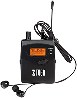 $65 » XTUGA RW2080 Whole Metal Wireless in Ear Monitor System 2 Channel 2/4/6/8 Bodypacks Monitoring with in Earphone Wireless Type Used for Stage or Studio Frequency902-928mhz (Only one bodypack)
