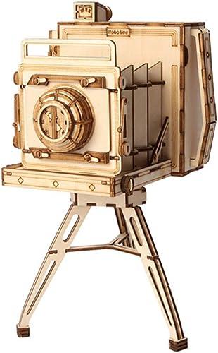 LSQR DIY 3D en Bois Vintage Caméra Puzzle Jeu Porte-Plume Et Cadeau pour Enfants Enfant Ami Modèle Kits De Construction Populaires Enfants Jouet