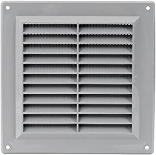 Air Vent Cover with Built-in Pest Guard Screen, HVAC Vent Duct Cover, Vent Cap Plastic (6``x6`` Inch, Grey)