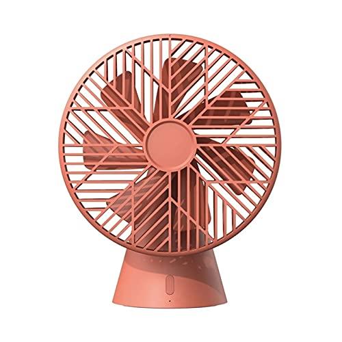 Silent Rainforest Mini ventilador para exteriores, camping, hogar, oficina, USB, recargable, parabrisas de mano 90° (color rojo, tamaño: carga USB)