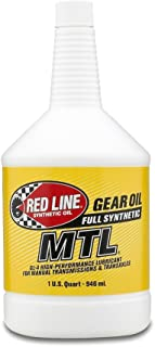 Red Line (50204) SAE 75W80 API GL-4 Manual Transmission and Transaxle Lubricant Car Gear Oil-1 Quart Bottle
