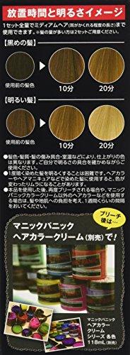 マニックパニックホワイトボムハイブリーチセット(ブリーチパウダー30g+オキシ6%90ml)(医薬部外品)