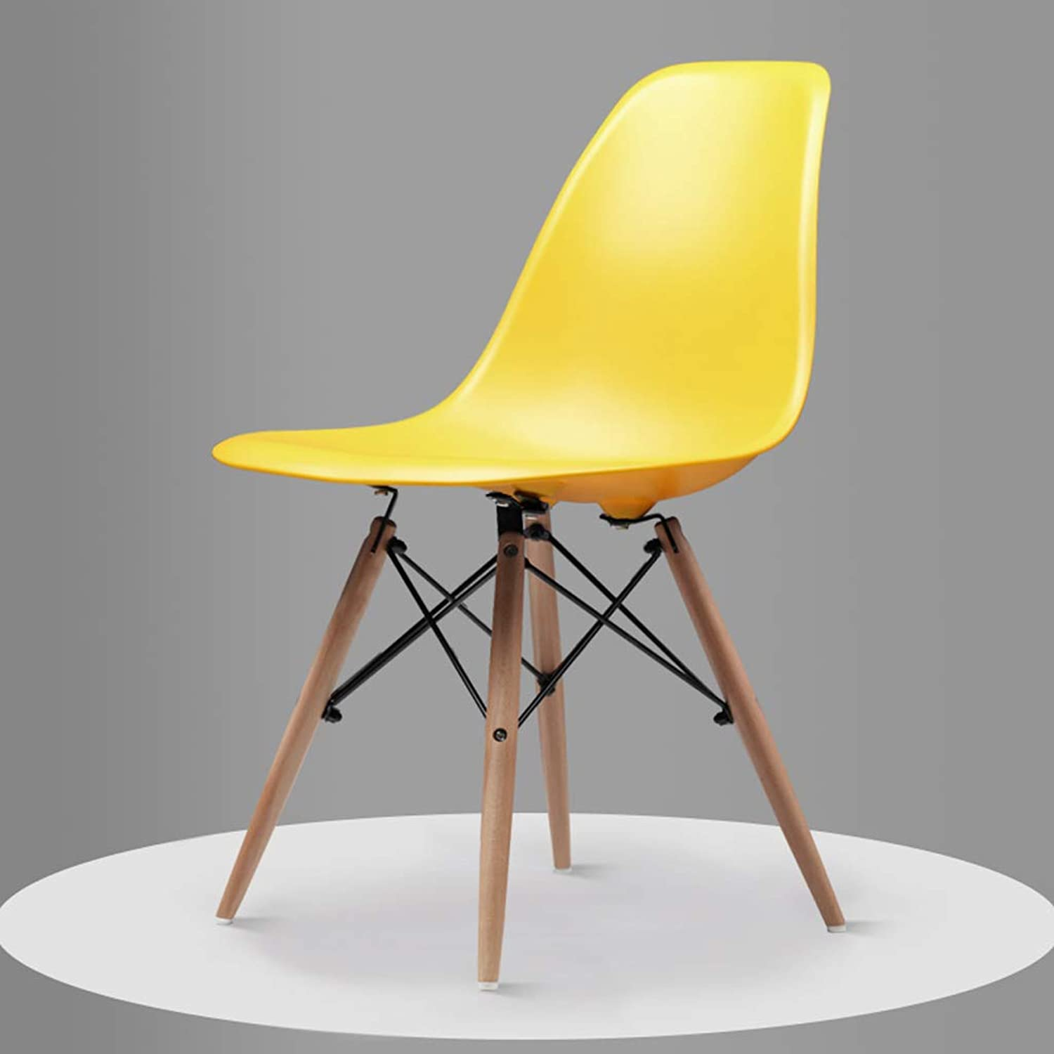CXQ Nordic Modern Minimalist Home Solid Wood Chair bluee Green Yellow Dining Table Chair (color   Yellow)