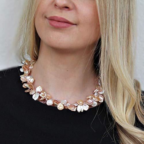 Perlen-Kette aus echten Süßwasser-Perlen, Geburtstagsgeschenk für Frauen
