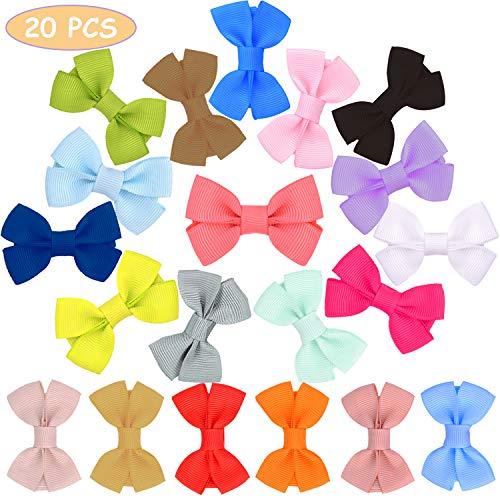20 Colores Bebé Niña Lazos para el Pelo Boutique Cinta, Multicolor Clips para Adolescentes Niños