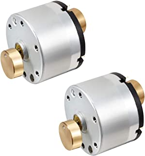 BestTong DC 6V-12V 5000RPM 10000RPM Brushed Vibration Motor DOUBLE-HEAD High Torque Electric Vibrating Motors with Eccentric BRASS-HEAD Rotating Mass Pack of 2