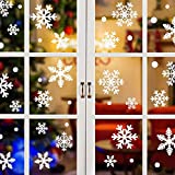 224 Pegatina Copo De Nieve De Navidad Calcomanías De Ventana De Copo De Nieve Reutilizable Pvc Sin Adhesivo Decoración De La Hogar y La Tienda De Vinilo Ventana Pegatinas De Pared De Puerta Ventana