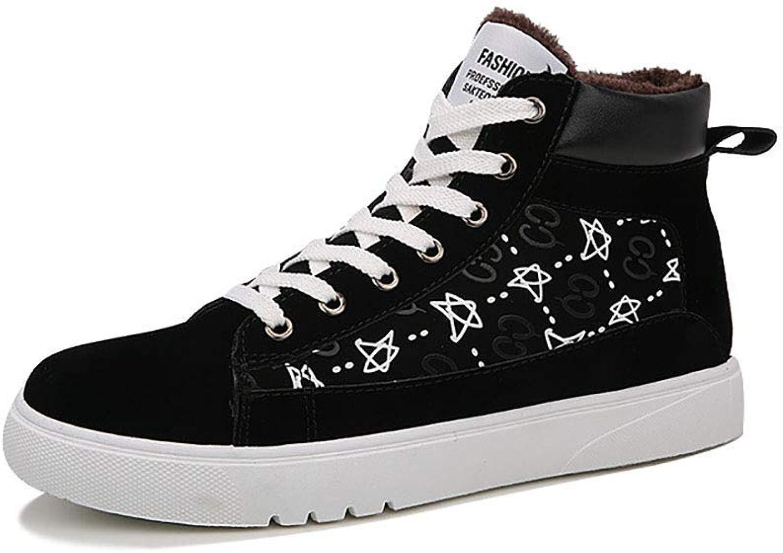 ZHRUI Men's Snow Boots Plus Velvet Warm Cotton shoes Thick Non-Slip Wear-Resistant Casual shoes (color   Black, Size   EU39 UK5.5)