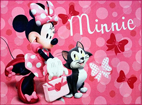 Minnie Mouse with Figaro Cat Area Rug