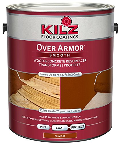 KILZ Over Armor Smooth Wood/Concrete Coating, 1 gallon, Redwood