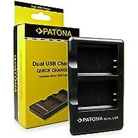 PATONA Cargador Doble para LP-E10 Bateria Compatible con Canon EOS 1100D 1200D 1300D 2000D 4000D Rebel T3 T5 T6 Kiss X50 X70 X80
