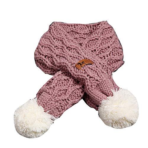 Buy and buy at Brandon Baby Scarf Winter Boy Baby Girl Soft Warm Wool Scarf Children's Wild Ball ScarfDeep PinkA
