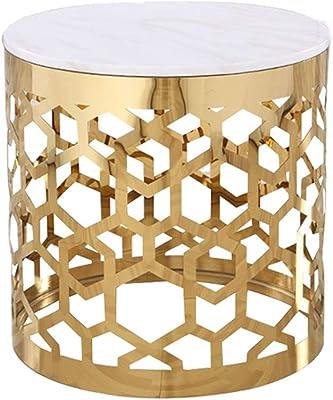 Tisch Aluminium Sandguss gold, klein