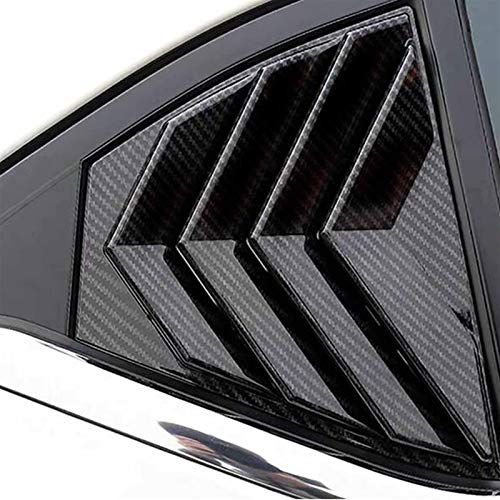 MKOIJN Car Spoiler Splitter Black Fit for Nissan Sentra Bluebird Sylphy Almera 2020 2021 Rear Window Louvers Spoiler Cover Trim Car Exterior Auto Accessories (Color : ABS Black)