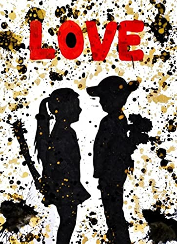 YYAYA.DS Lona Pared Arte Amor Abstracto de Carteles e Impresiones Amante Pared Arte Imagen decoración 60x90cm