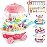 SR Toys Sweet Shopping Battery Operated Ice Cream Trolley Set for Kids with LED Lights and Music...