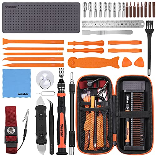 Vastar Kit Reparacion Moviles, Juego Destornilladores Precision, Herramientas Movil, Adecuado Para Gafas, Teléfonos Móviles, IPad, Cámaras, PC, Portátiles, Etc.