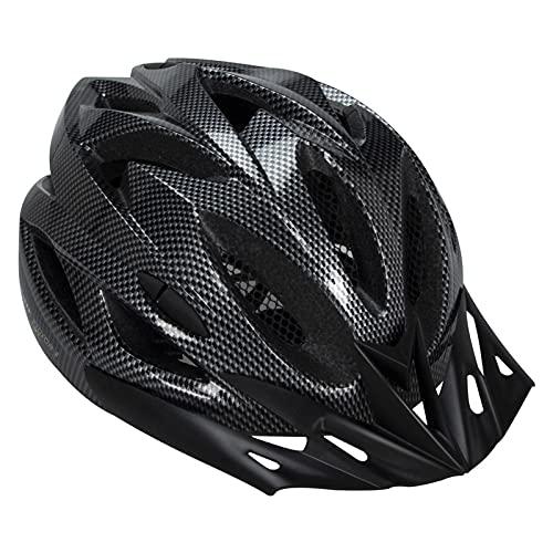 Casco de Adulto para Bicicleta con luz LED Casco de Ciclismo Visera Solar extraíble magnéticas Desmontables Casco de Bicicleta Hombre y Mujer 57-62 CM