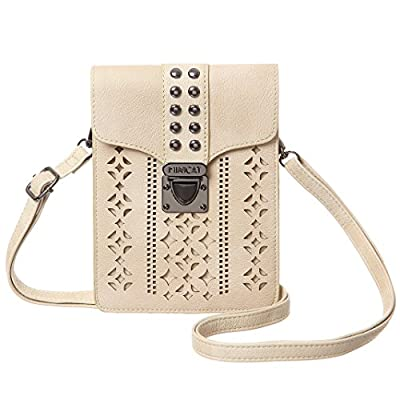 MINICAT Women Hollow Texture Small Crossbody Bags Cell Phone Purse Wallet With Credit Card Holder