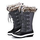 Camfosy Botas de Nieve Mujeres de Invierno,Botas de Lluvia Zapatos de Piel Impermeables Después del esquí Lleno de...