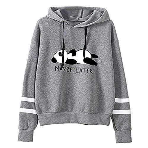 Dicomi Frauen Sweatshirt Kapuze Langarm Outwear Jacke Bluse T-Shirt Bär Pullover Hoodie Mode Hoodies Tops