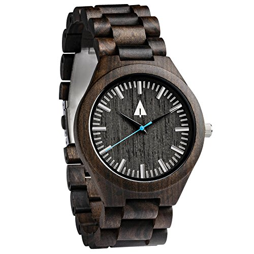 Treehut Men's Walnut and Ebony Wooden...