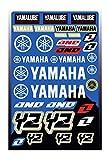 Kit Pegatinas ADESIVI Compatible para Yamaha YZ YZF PATROCINADOR Cross Enduro Casco (65)