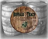 Bar Decor Buffalo Trace Whiskey Bourbon Kentucky Barrel Lid Wood Wall Art