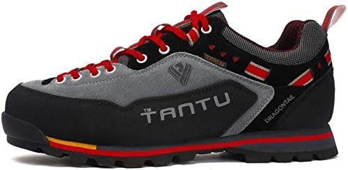 paniers pour hommes, chaussures de plein air pour hommes, chaussures de marche, chaussures de marche en cuir, chaussures de sport imperméables tout-aller, chaussures à lacets (couleur  B, taille  43)
