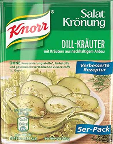 Knorr Salatkrönung Dill-Kräuter Salatdressing 5er-Pack