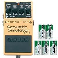 BOSS コンパクトエフェクター エレクトリック・ギター・サウンドを、アコースティック・ギター・サウンドに変化させるアコースティック・シミュレーター。 +9Vマンガン電池5個付き AC-3(Acoustic Simulator)