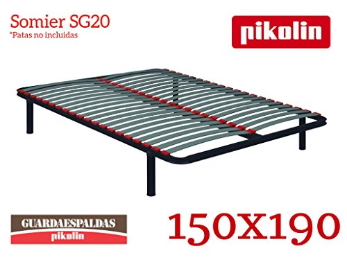PIKOLIN Somier SG20-20 Láminas de Madera Que absorben la presión ejercida.