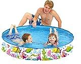 "Taylor Toy Snapset Swimming Pool for Kids | Toddler and Baby Pool | 47"" Diameter x 10"" Depth, 59 Gallon Kiddie Pool | Sea Buddies"
