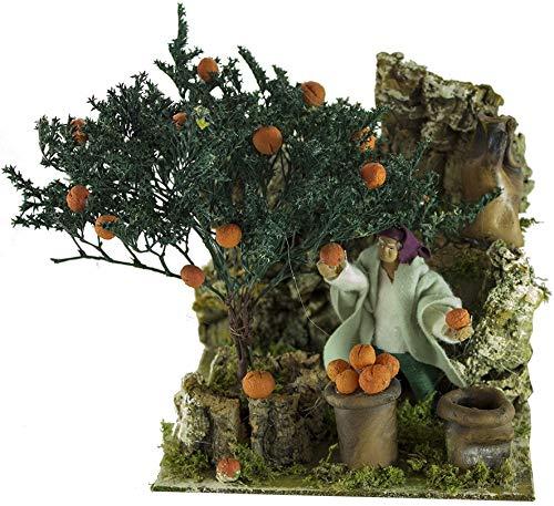 Joy Christmas Pastore per Presepe in Movimento 17 cm x 17 cm Il Raccoglitore di Arance 43114