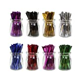 HRX Package 4 inch Metallic Twist Ties Good for Christmas Cello Wedding Party Candy Bags (8 Colors of 1600pcs)