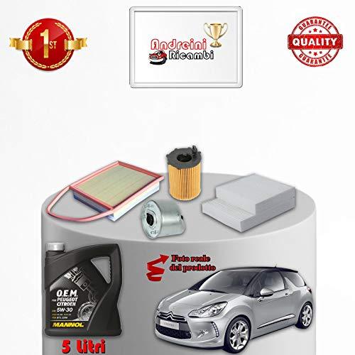 Tecneco Kit filtres et huile Citroen DS3 1.6 HDi 84 kW 114 Cv 2014 – >