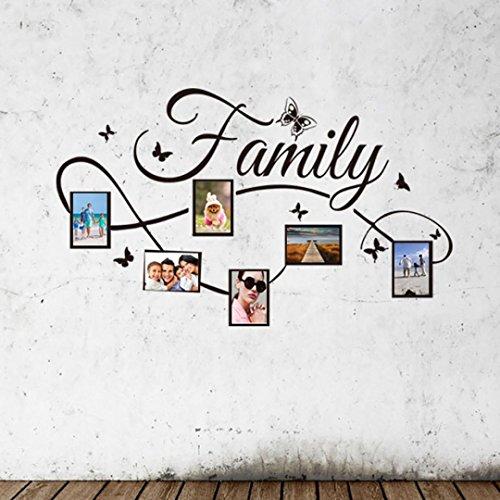 ALIKEEY - Adesivo da parete per foto di famiglia, motivo: albero, dimensioni: 131 x 72 cm
