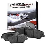 Front PowerSport Ceramic Series Brake Pad With Rubber Steel Rubber Shims