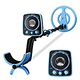 RM RICOMAX Metal Detector for Adults & Kids - Professional Metal Detector with LED Flash Indicators 8-Inch Adjustable Waterproof Detectors (35- 45 inch)