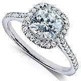 Best Kobelli Moissanite Wedding Rings - Kobelli Cushion-cut Moissanite Engagement Ring 1 1/3 CTW Review