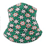 Neck Gaiter Face Scarf Casino Sun Protection Cool Face Cover Stylized Poker Chips Pirate Symbols...
