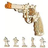 Robotime 3D Puzzle De Madera Maquetas Toys Gun - Kit De Construcción Mecánica Modelo para Niños De 14 Años para Adultos(Corsac M60)
