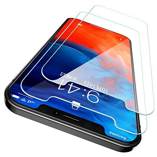 CASEKOO iPhone 12 Pro Max 用 ガラスフィルム 6.7インチ ガイド枠付き 2枚セット 日本旭硝子製 気泡ゼロ 透過率99.9% 強化ガラス 指紋防止 9H硬度 アイフォン12 Pro Max 用保護フィルム