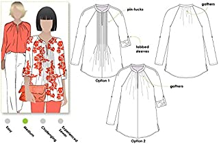 Style Arc Sewing Pattern - Faith Woven Top (Sizes 04-16) - Click for Other Sizes Available